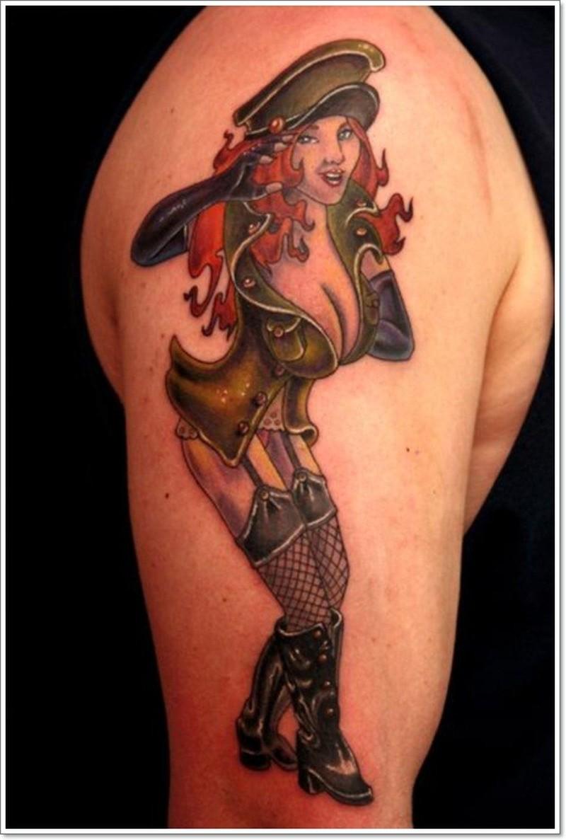 Sexy army pin up girl tattoo   Tattoos Book   9.9 Tattoos Designs