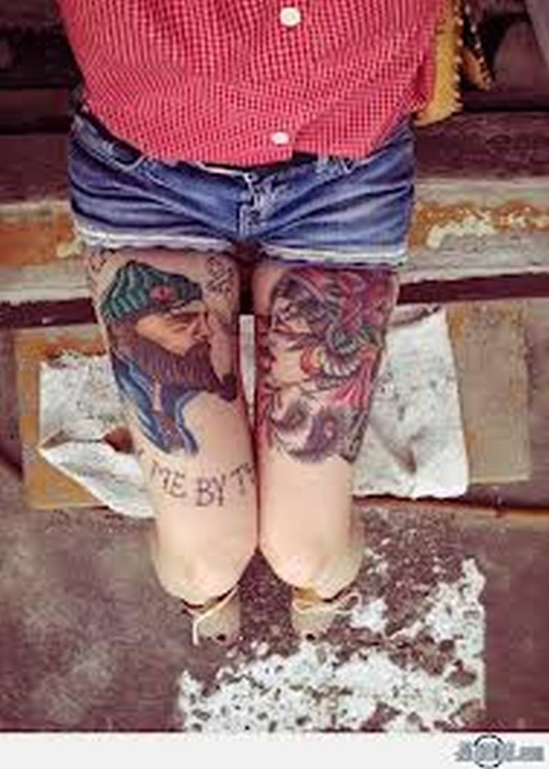 Sexy couple tattoo design 2