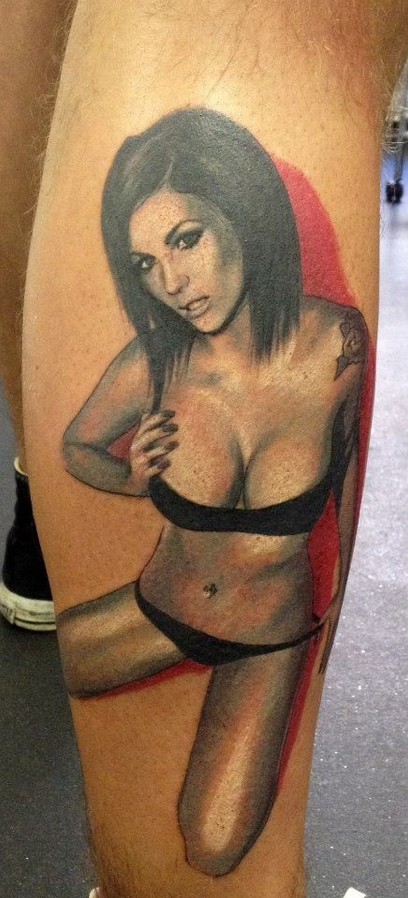6ce237b2f Sexy girl in black lingerie by Adam Kremer tattoo - Tattoos Book ...