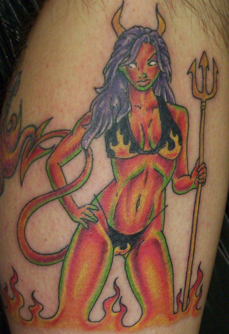 Sexy girl tattoo design