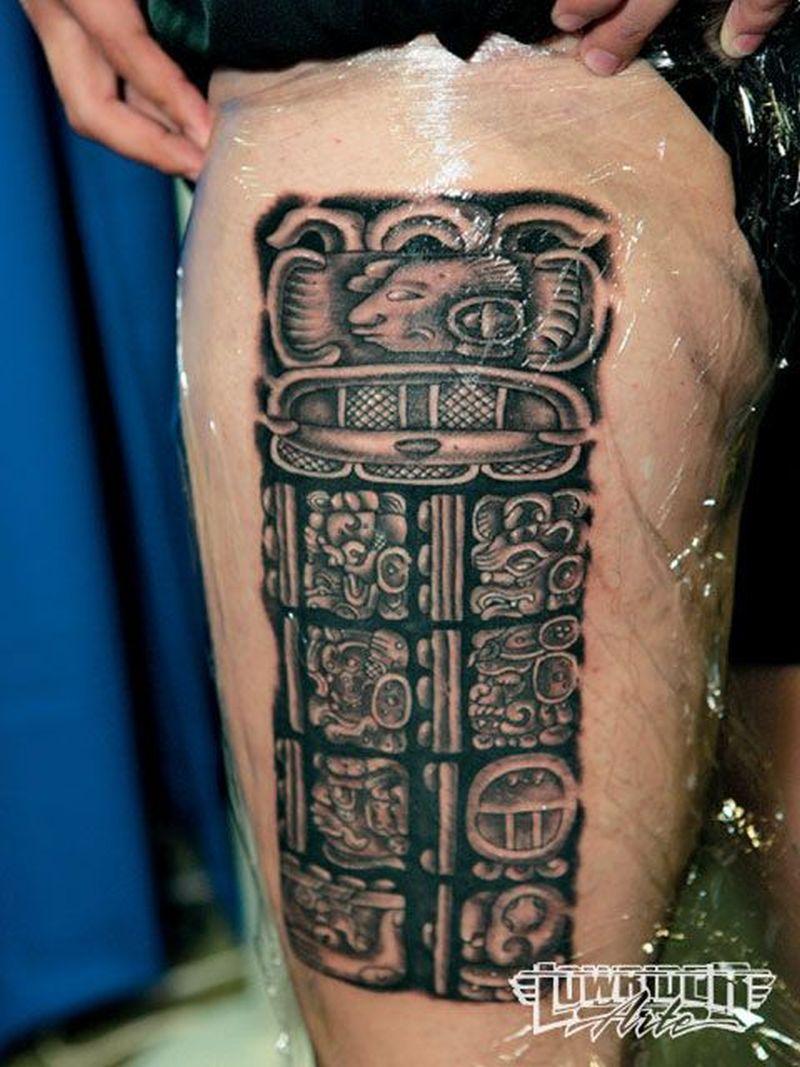 Shining aztec tattoo
