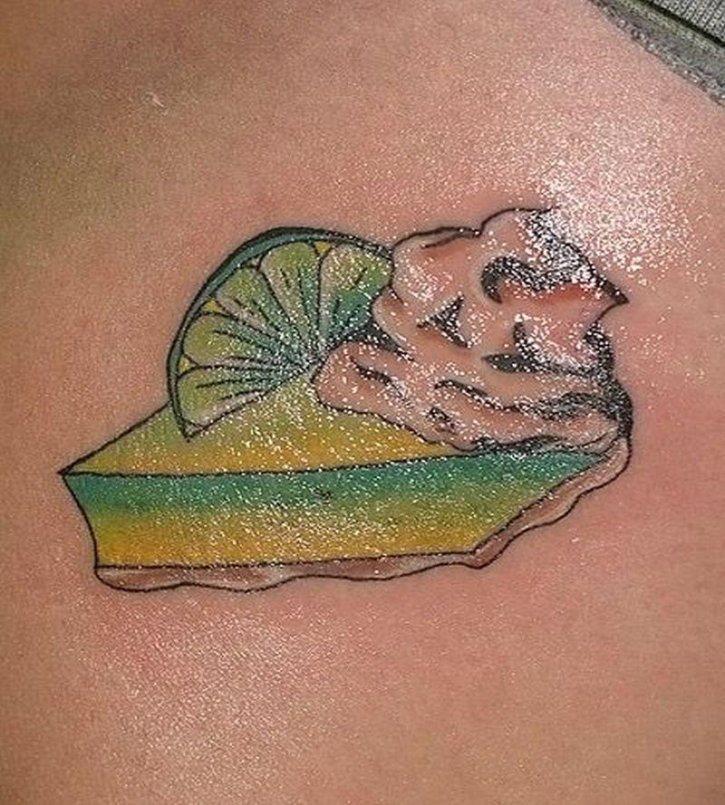 Shining cake design tattoo
