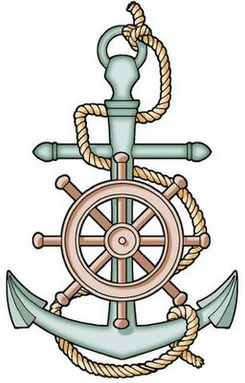 Ship steering wheel anchor tattoo tattoos book for Anchor and wheel tattoo