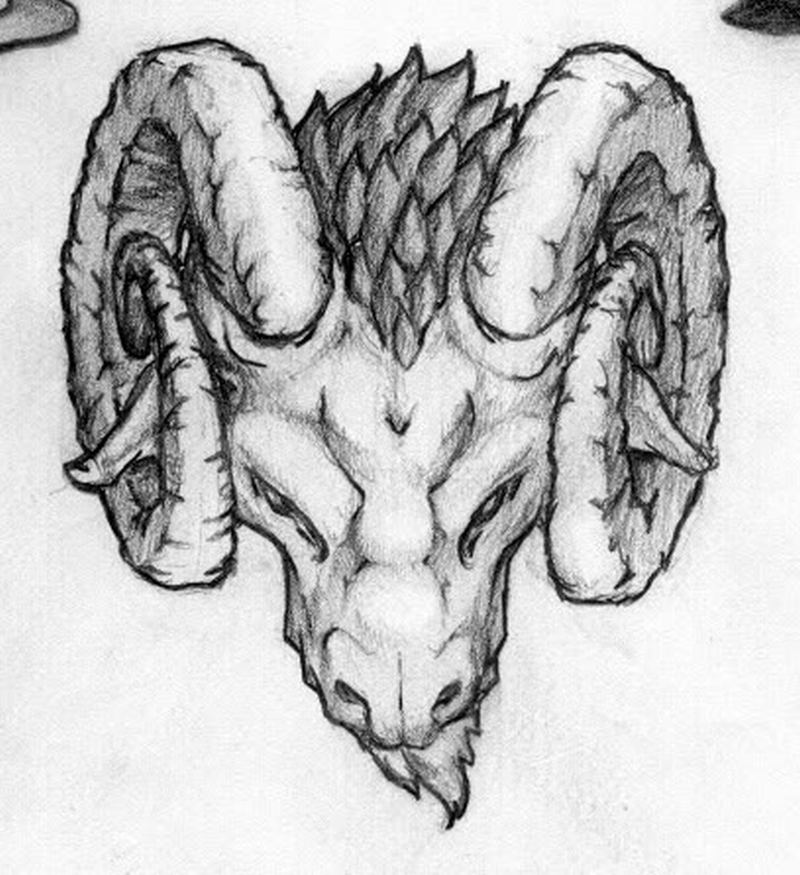10a2c2a0d Simple aries goat head tattoo design - Tattoos Book - 65.000 Tattoos ...
