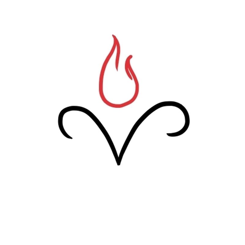 1fa88e93fcf35 Simple aries zodiac design tattoo - Tattoos Book - 65.000 Tattoos ...