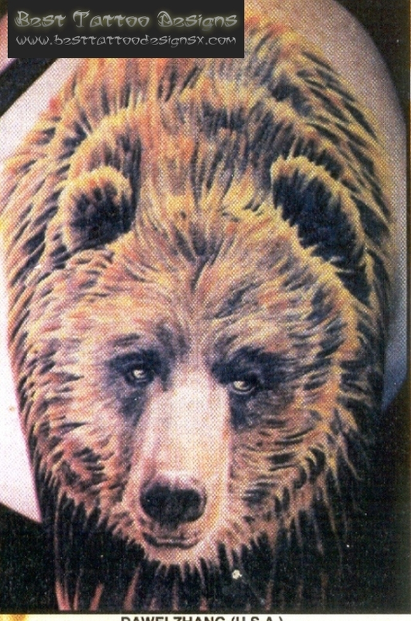 simple bear face tattoo tattoos book tattoos designs. Black Bedroom Furniture Sets. Home Design Ideas