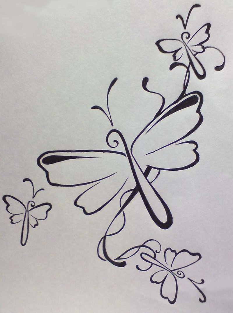 Simple dragonfly tattoo design - Tattoos Book - 65.000 ...