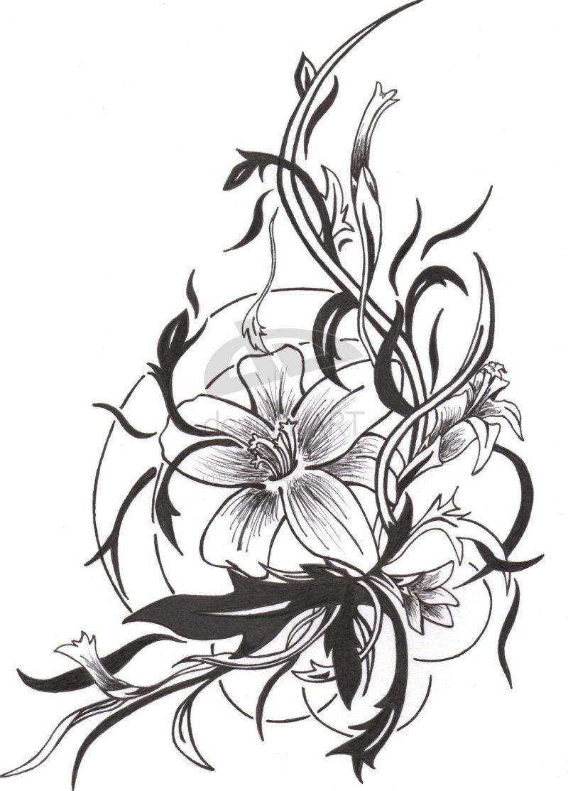 Simple flower tattoo design 3