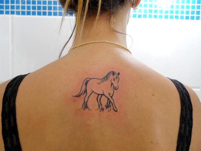8965324f6 Simple horse tattoo on back - Tattoos Book - 65.000 Tattoos Designs