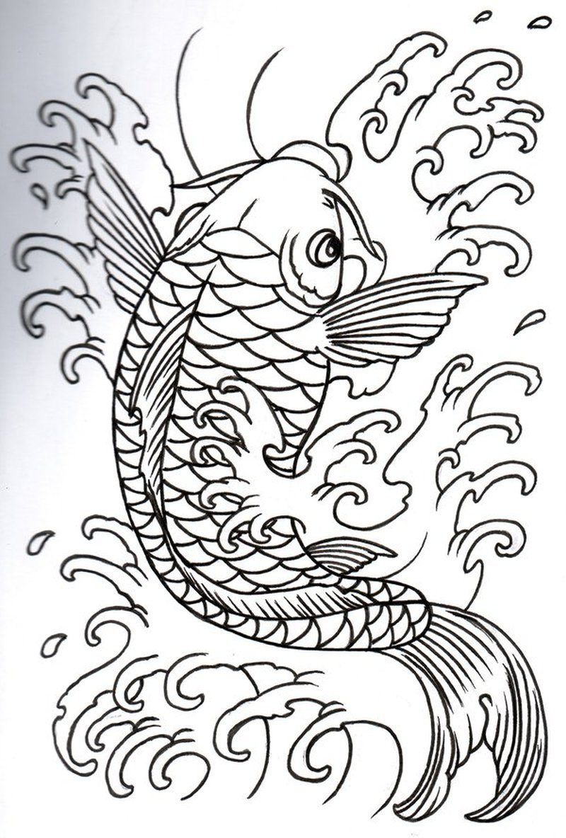 Simple Koi Fish Tattoo Design Tattoos Book 65 000 Tattoos Designs