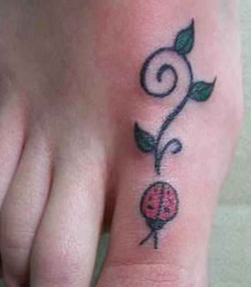 Simple ladybug tattoo on foot tattoos book for Ladybug heart tattoos