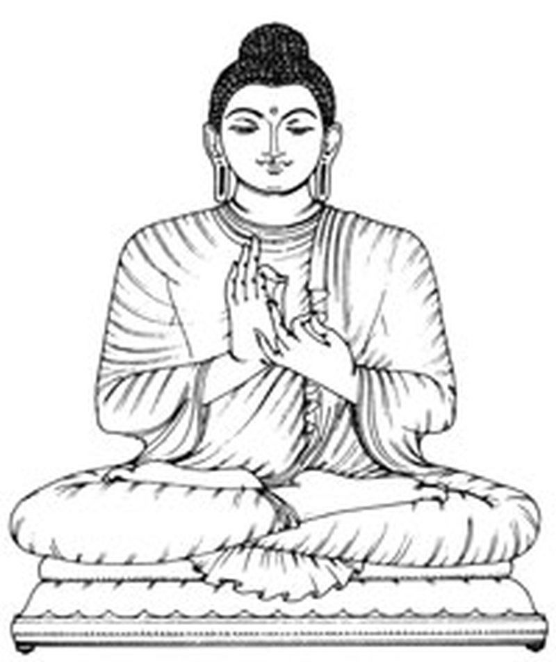 Simple religious buddha tattoo design