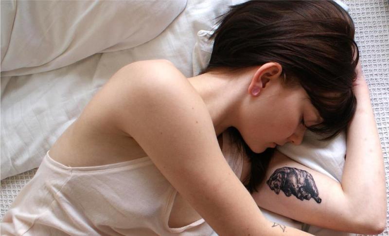 Small Bear Tattoo On Girls Inner Arm