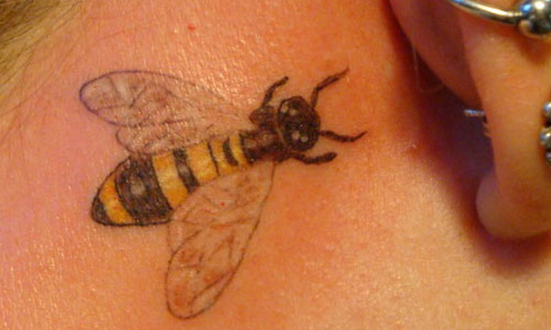 Small bumblebee tattoo