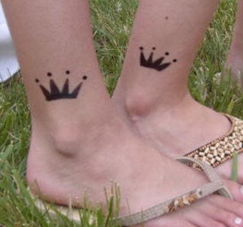 Small Crown Tattoo On Ankles Tattoos Book 65 000 Tattoos Designs