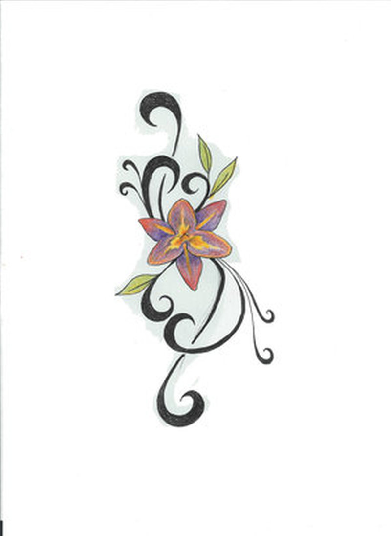 Small flower tattoo picture