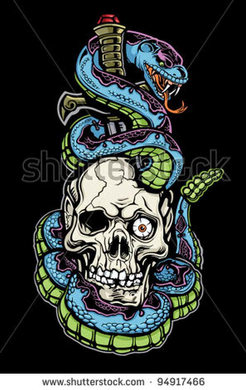 snake skull n dagger design tattoo tattoos book tattoos designs. Black Bedroom Furniture Sets. Home Design Ideas