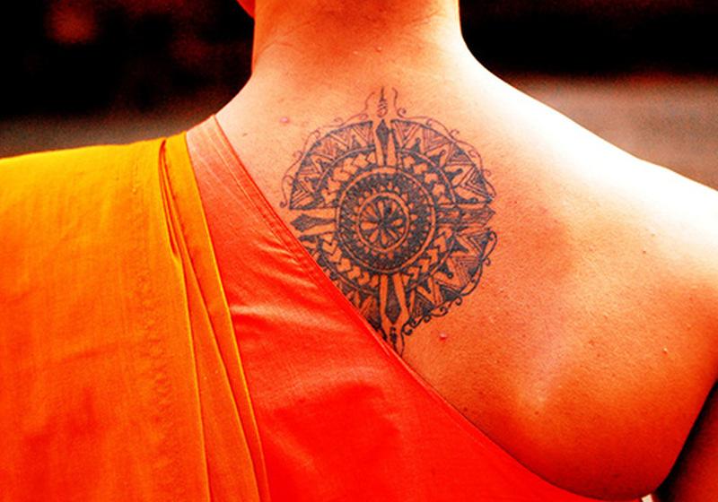 Special theme buddhist tattoo design