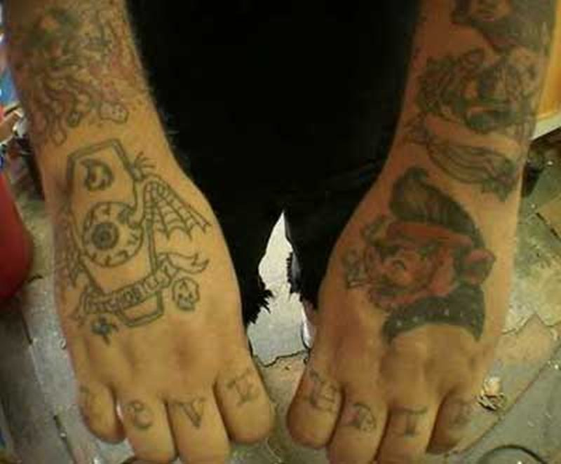 Spider coffin hand tattoo designs