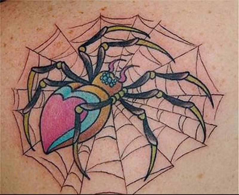 Spider insect tattoo art