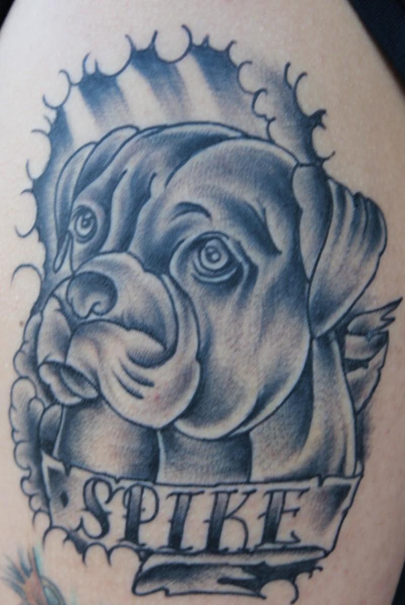 spike dog tattoo design tattoos book tattoos designs. Black Bedroom Furniture Sets. Home Design Ideas