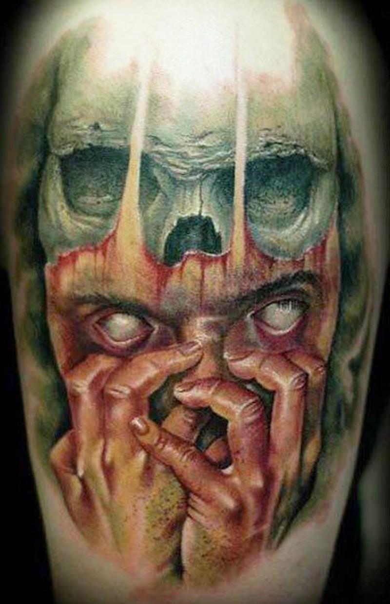 spooky nightmare horror tattoo tattoos book tattoos designs. Black Bedroom Furniture Sets. Home Design Ideas