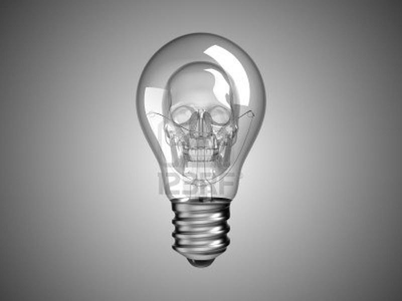 spooky skull inside light bulb tattoo design tattoos book