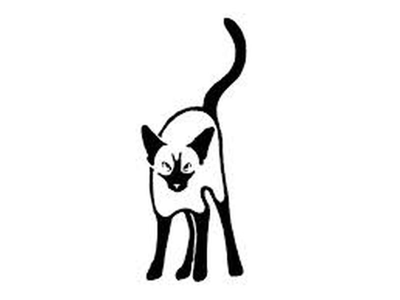 Standing cat tattoo design