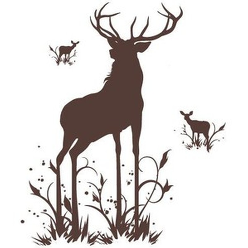 Standing deer tattoo design