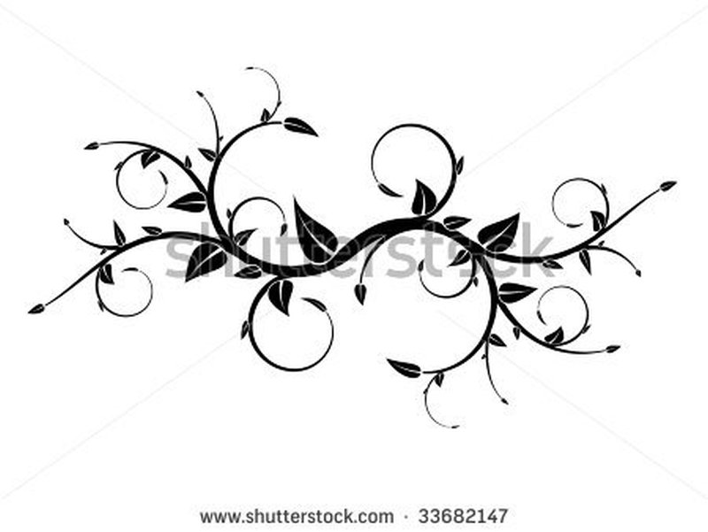 Stock vector floral tattoo design 3