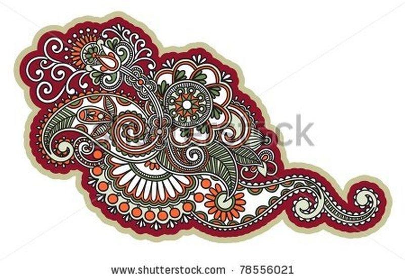 Stock vector henna floral tattoo design