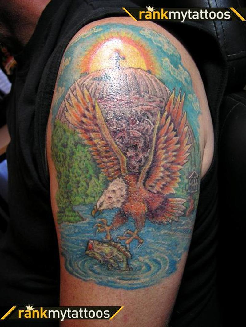 Stone mountain eagle tattoo design