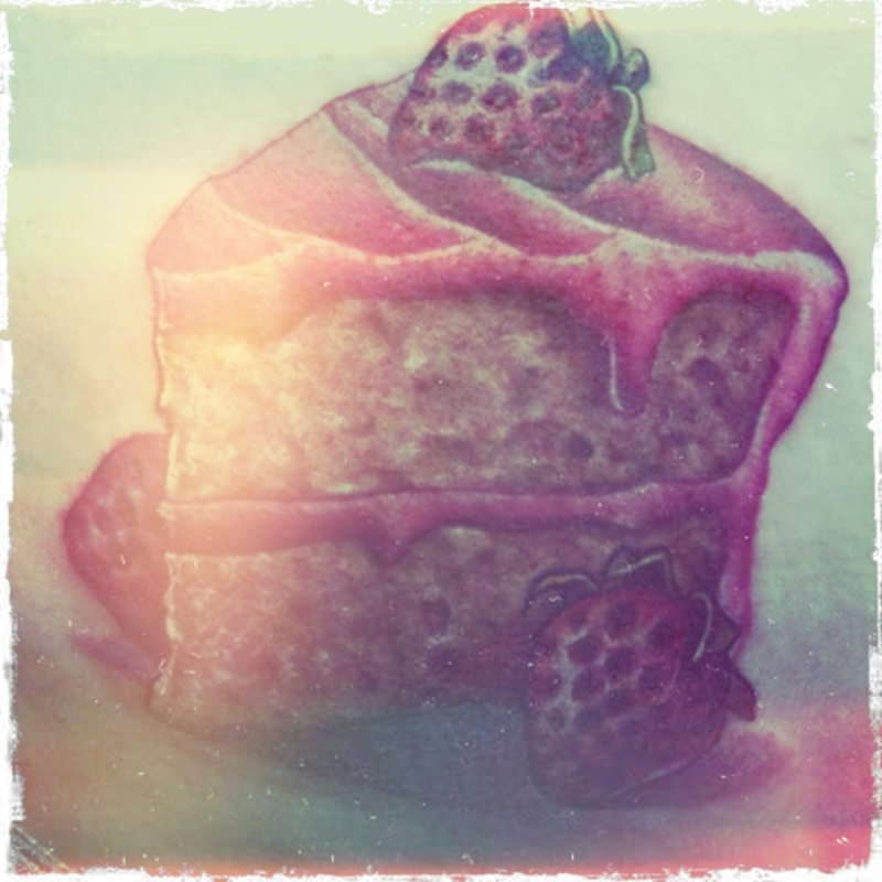 Strawberry cake tattoo image