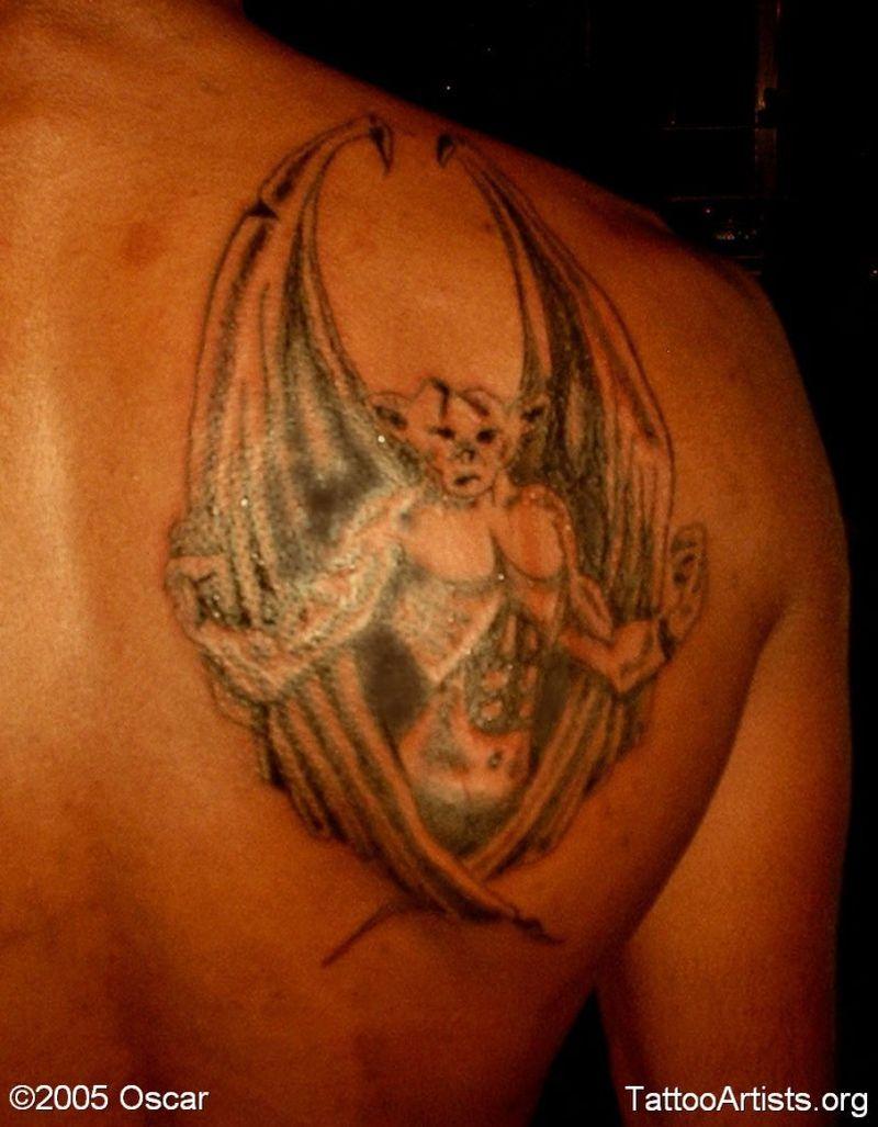8aad7ec75 Strong gargoyle tattoo on back of shoulder - Tattoos Book - 65.000 ...
