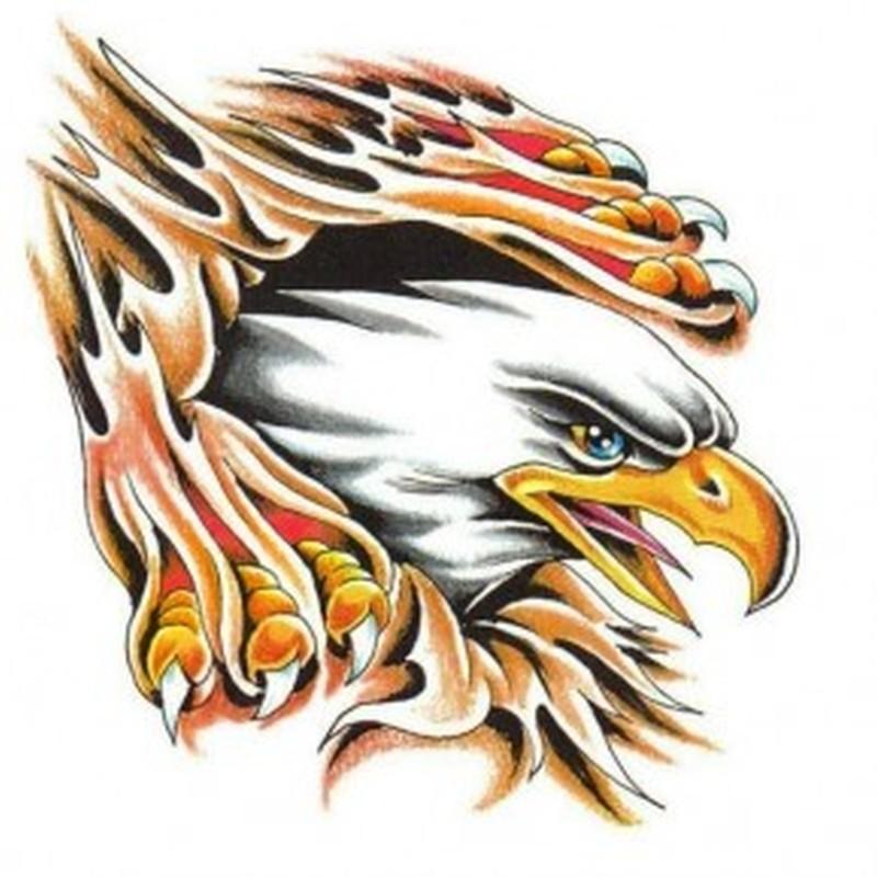 Stunning eagle tattoo sample