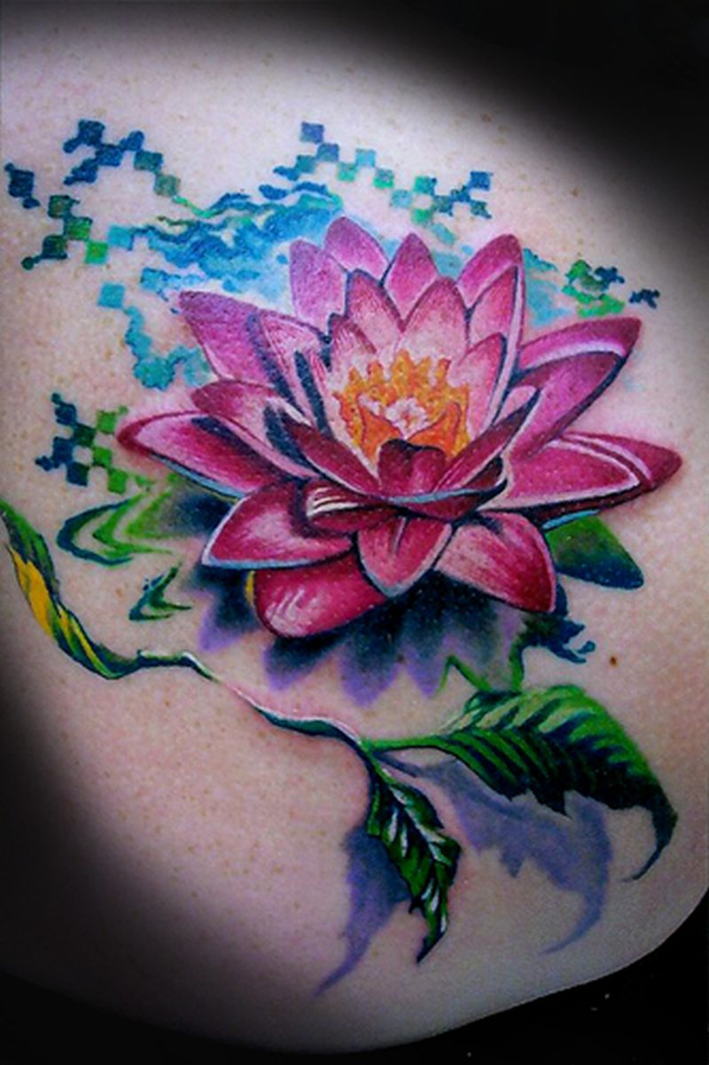 Stunning flower tattoo design 2