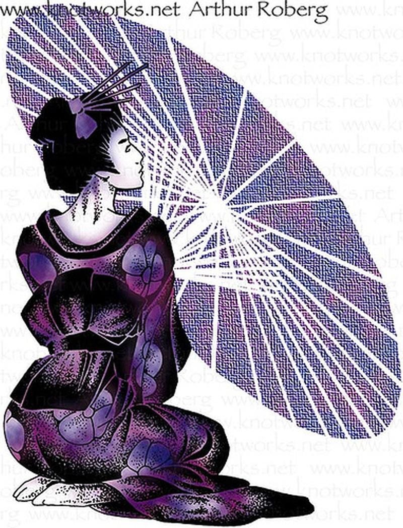 Stunning geisha tattoo design
