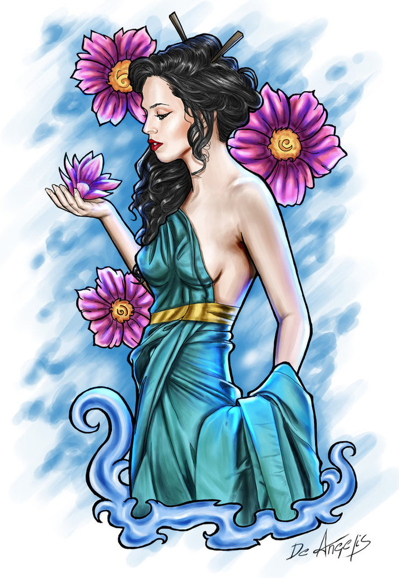 Stunning geisha tattoo sample