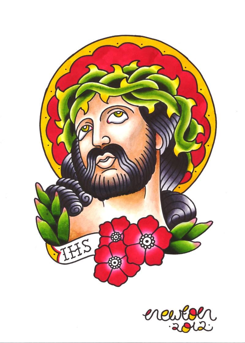 Stunning jesus tattoo design