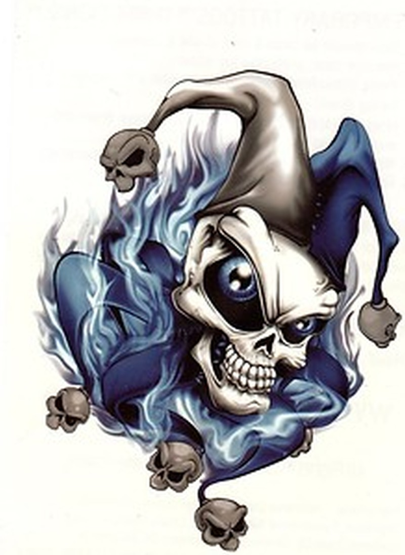 stunning joker skull tattoo design tattoos book tattoos designs. Black Bedroom Furniture Sets. Home Design Ideas