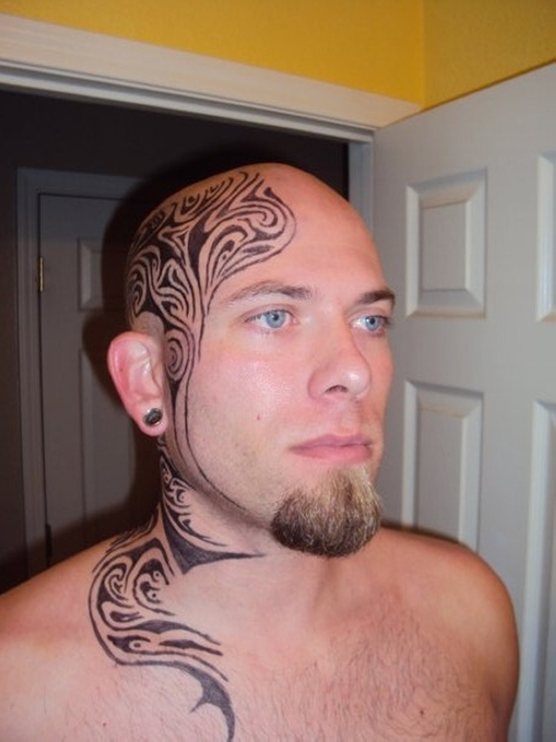 99a7d5842041e Stylish tribal tattoo on head n neck - Tattoos Book - 65.000 Tattoos ...