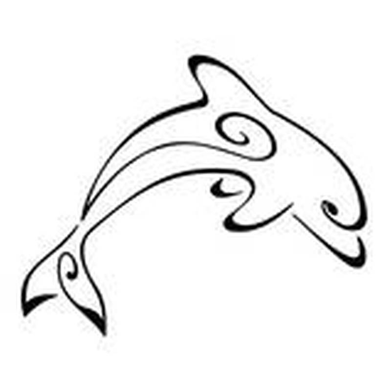 Stylized dolphin design tattoo