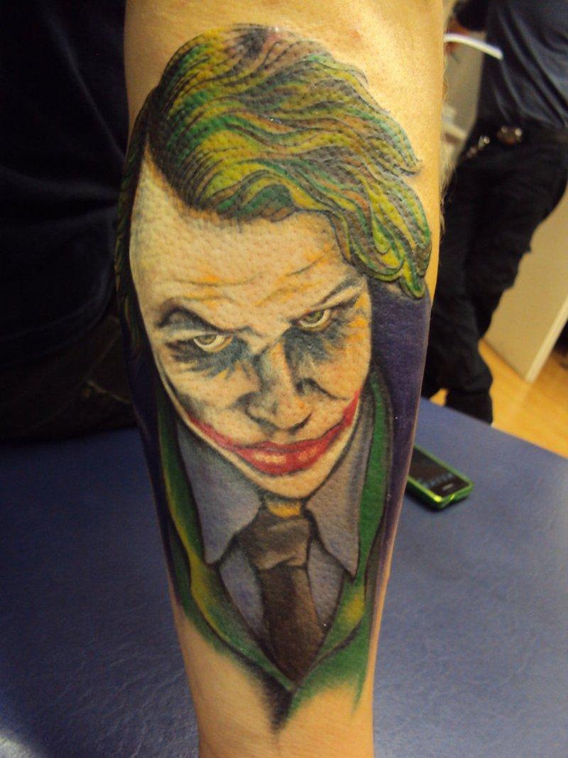 Superb batman joker tattoo design