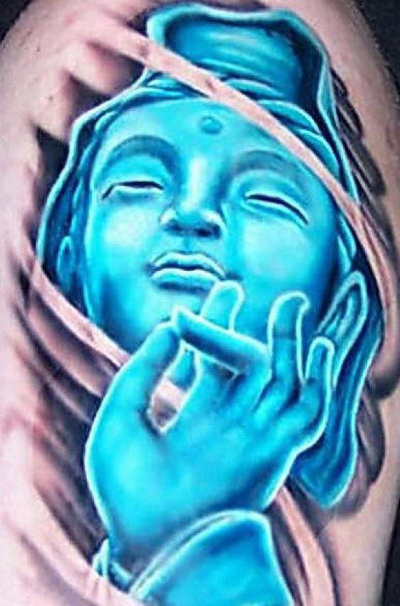 Superb buddhist religious tattoo design