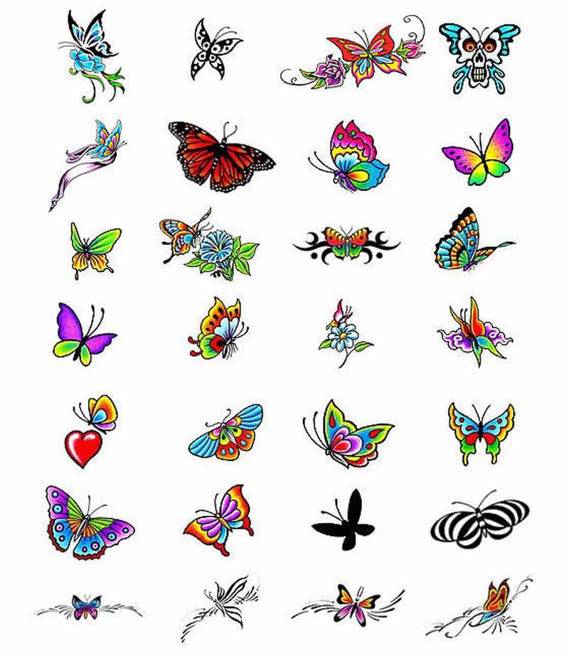 Superb butterflies design tattoo