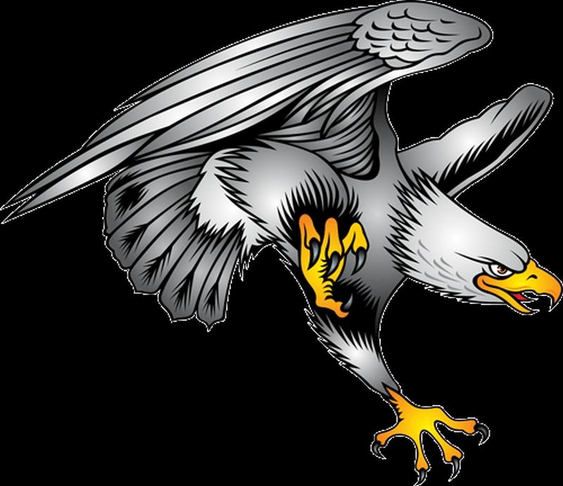 Superb eagle tattoo sample