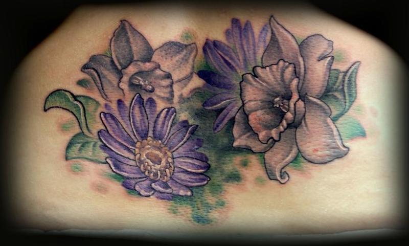 Superb floral tattoo design