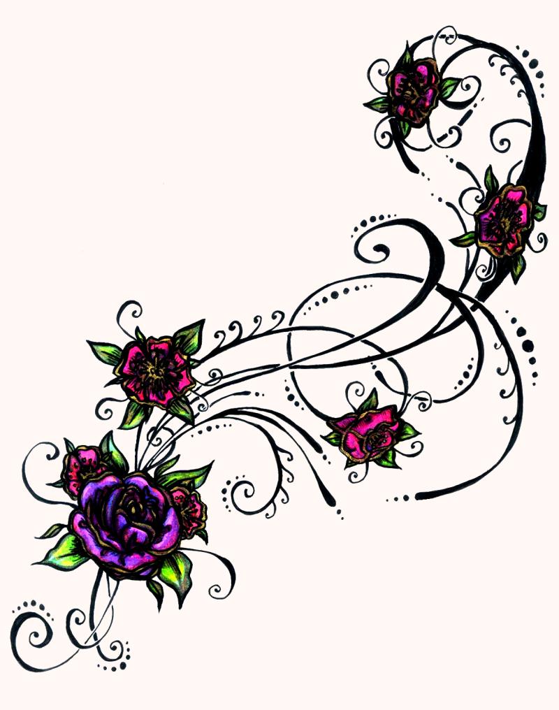 Superb flower tattoo designs