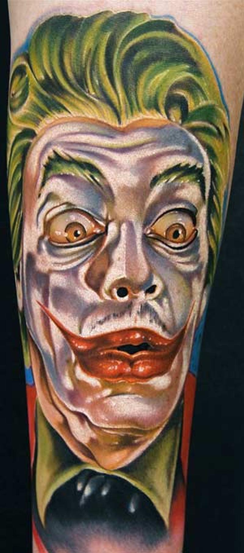 Superb joker art tattoo