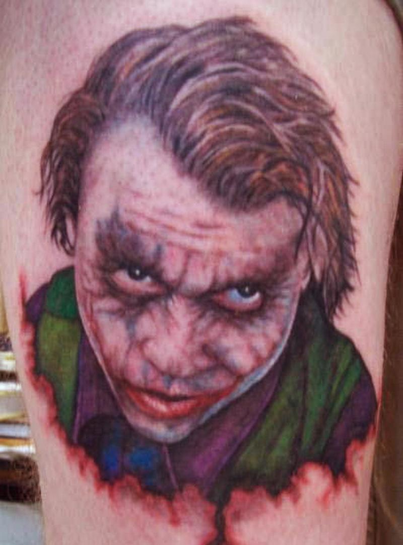 Superb Joker Face Tattoo Design Tattoos Book 65 000 Tattoos Designs